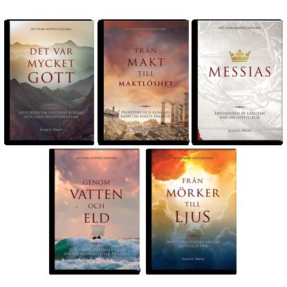 Bild på Det stora hoppets historia. 5 böcker.