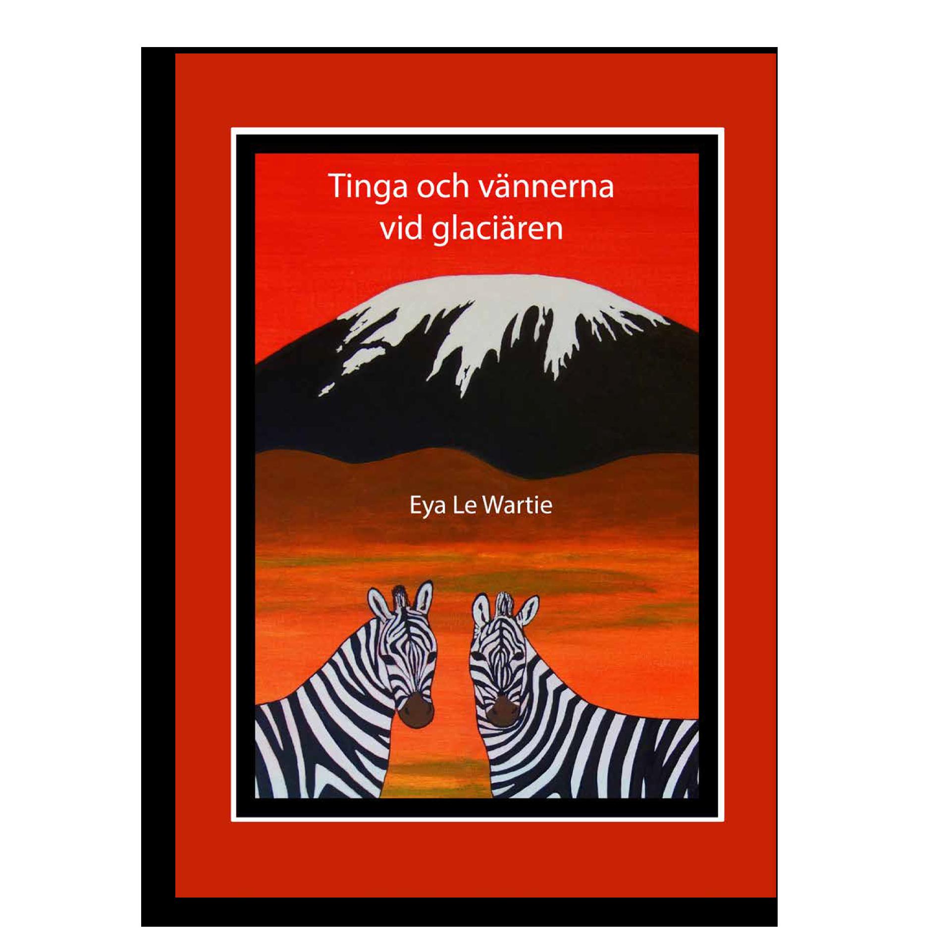 Bild på Tinga och vännerna vid glaciären